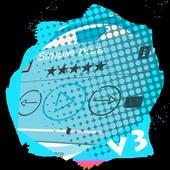 Simple blue PlayerPro Skin icon