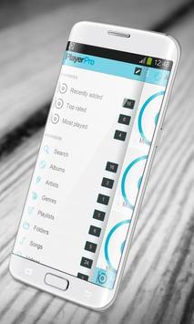Simple blue PlayerPro Skin apk screenshot