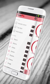 Simple red PlayerPro Skin apk screenshot