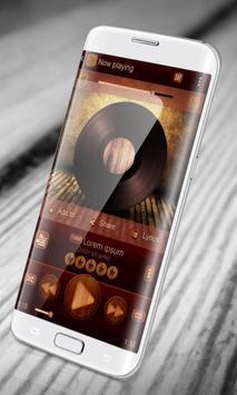 Wooden PlayerPro Skin poster