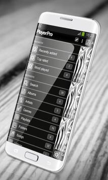 Zebra PlayerPro Skin apk screenshot