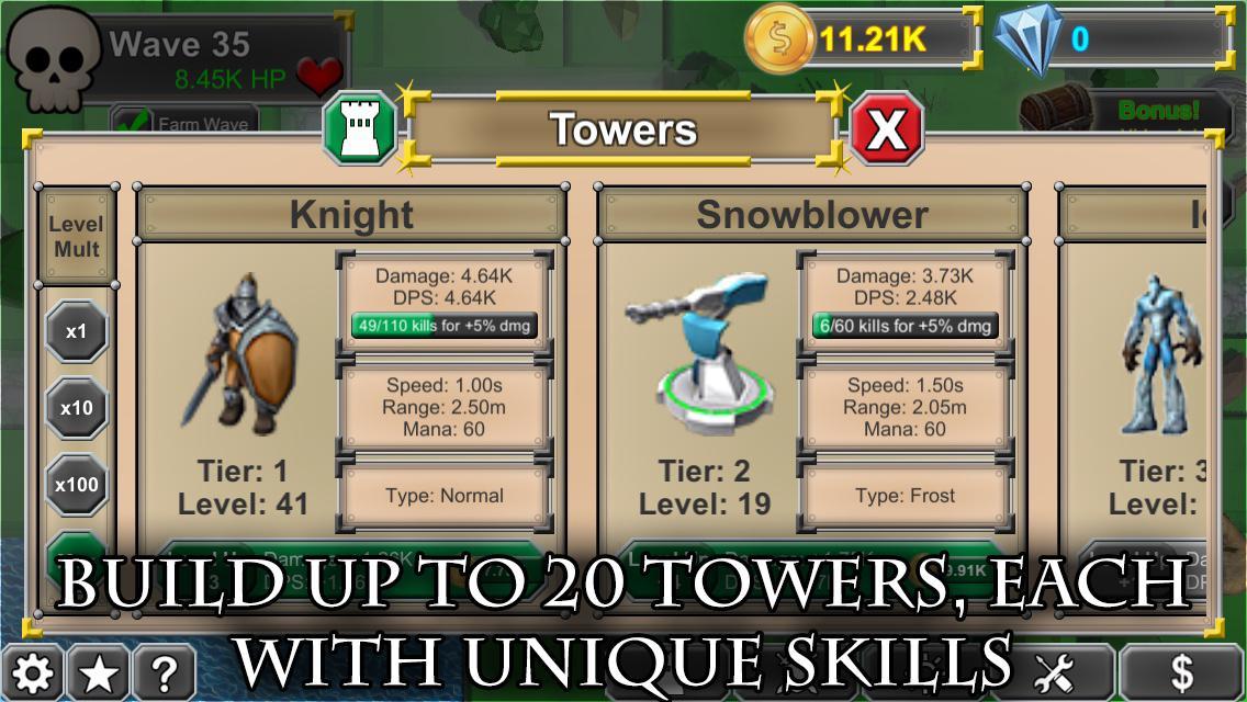 Idle tower heroes