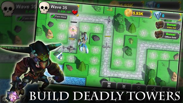 Idle Tower Defense: Fantasy TD Heroes and Monsters apk screenshot