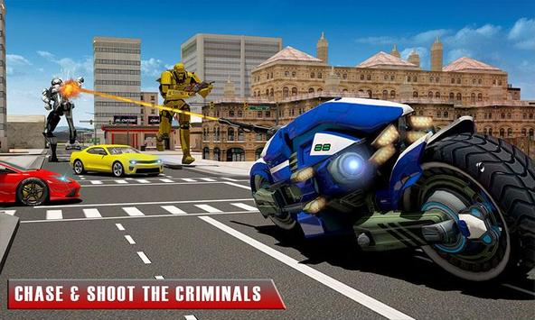 Bike Chase Robot Simulator screenshot 1