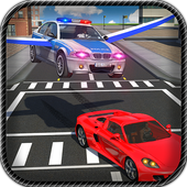Flying Car Police Chase icon
