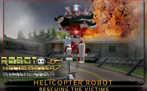 Robot Helicopter Simulator apk screenshot