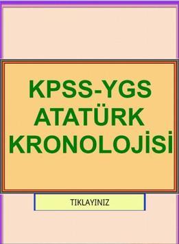 KPSS YGS ATATÜRK KRONOLOJİSİ poster