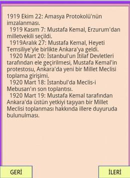 KPSS YGS ATATÜRK KRONOLOJİSİ apk screenshot