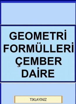 Geometri Formülleri Çember YGS poster