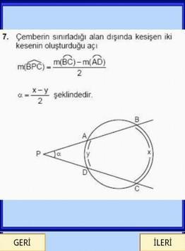 Geometri Formülleri Çember YGS screenshot 1