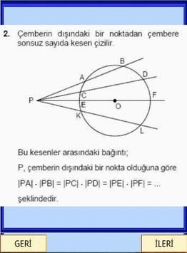 Geometri Formülleri Çember YGS screenshot 2