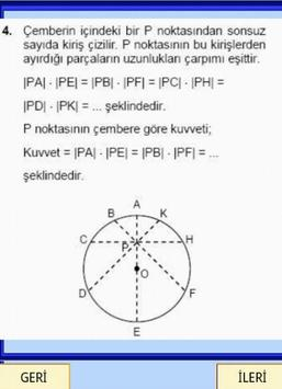Geometri Formülleri Çember YGS screenshot 3