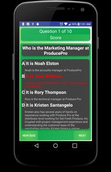Produce Pro Quiz App poster
