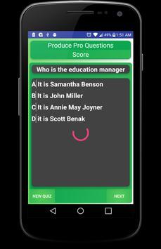 Produce Pro Quiz App apk screenshot