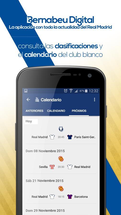Calendario Real Madrid.Bernabeu Digital For Android Apk Download