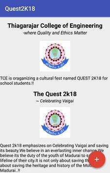 Quest 2k18 -  An Inter-school Cultural poster