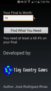 Final Grade Calculator screenshot 1