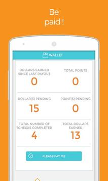 Tcheck'it - Make money apk screenshot