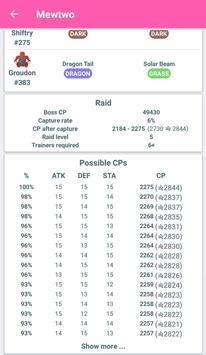 Raid Boss - レイドバトル - リスト & カウンター for ポケモンGO apk スクリーンショット