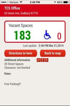 TCS Mobile Parking Finder screenshot 1