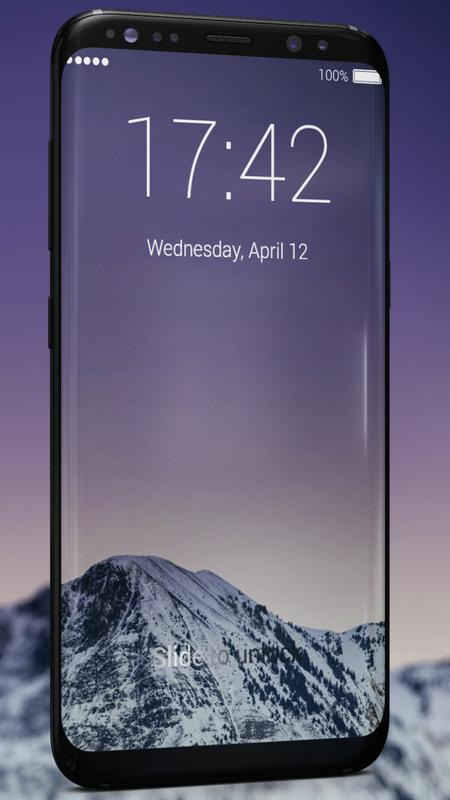 how to change lock screen s8