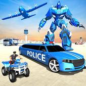 US Police Limousine Car Robot Quad Bike Transport icon