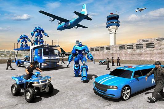 US Police Limousine Car Robot Quad Bike Transport poster