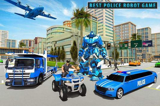US Police Limousine Car Robot Quad Bike Transport screenshot 3