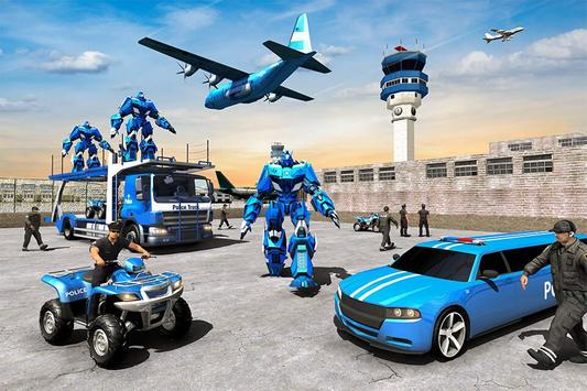 US Police Limousine Car Robot Quad Bike Transport screenshot 6