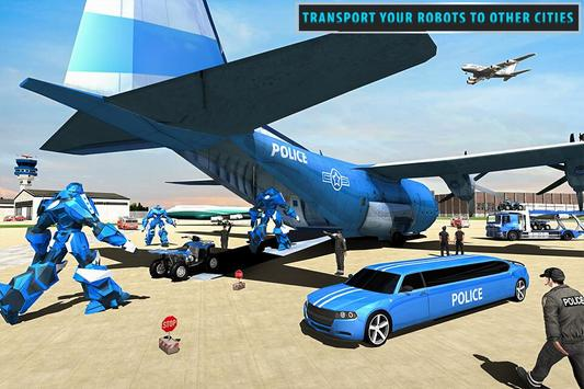 US Police Limousine Car Robot Quad Bike Transport screenshot 7