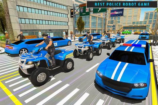 US Police Limousine Car Robot Quad Bike Transport screenshot 8