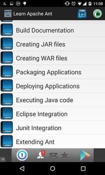 Learn Apache Ant apk screenshot
