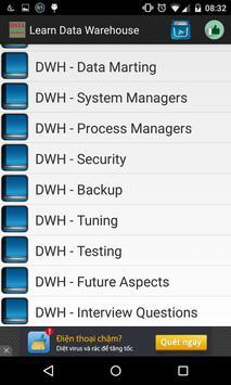 Learn Data Warehouse apk screenshot