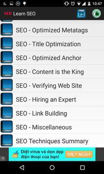 Learn SEO apk screenshot