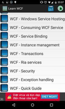 Learn WCF apk screenshot