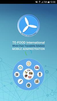 TE-FOOD International Administration poster
