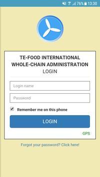 TE-FOOD International Administration screenshot 2