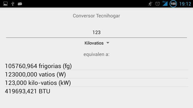 Tecnihogar Conversor apk screenshot