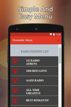 Romantic Music Radio App apk screenshot