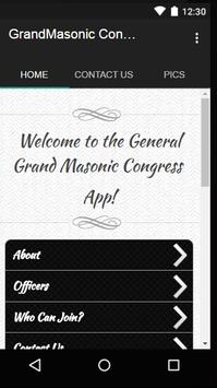 General Grand Masonic Congress poster