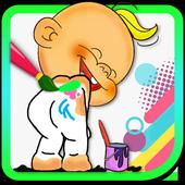 Crazy Coloring Book icon