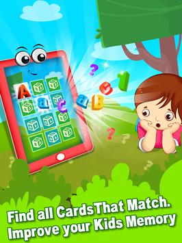 ABC 123 Memory Game - Kids Matching Game poster