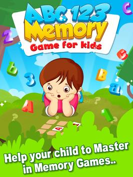 ABC 123 Memory Game - Kids Matching Game screenshot 1