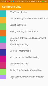 Cse Book Lists apk screenshot