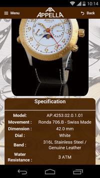 Appella Watches screenshot 3
