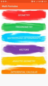 Important Exam Cracker Maths Formulas poster