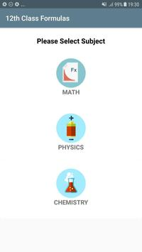 All formula (Math,Physics,Chemistry) for 11th 12th poster
