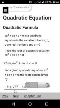 CBSE Class 10th Maths Notes : All Chapter Solution screenshot 2