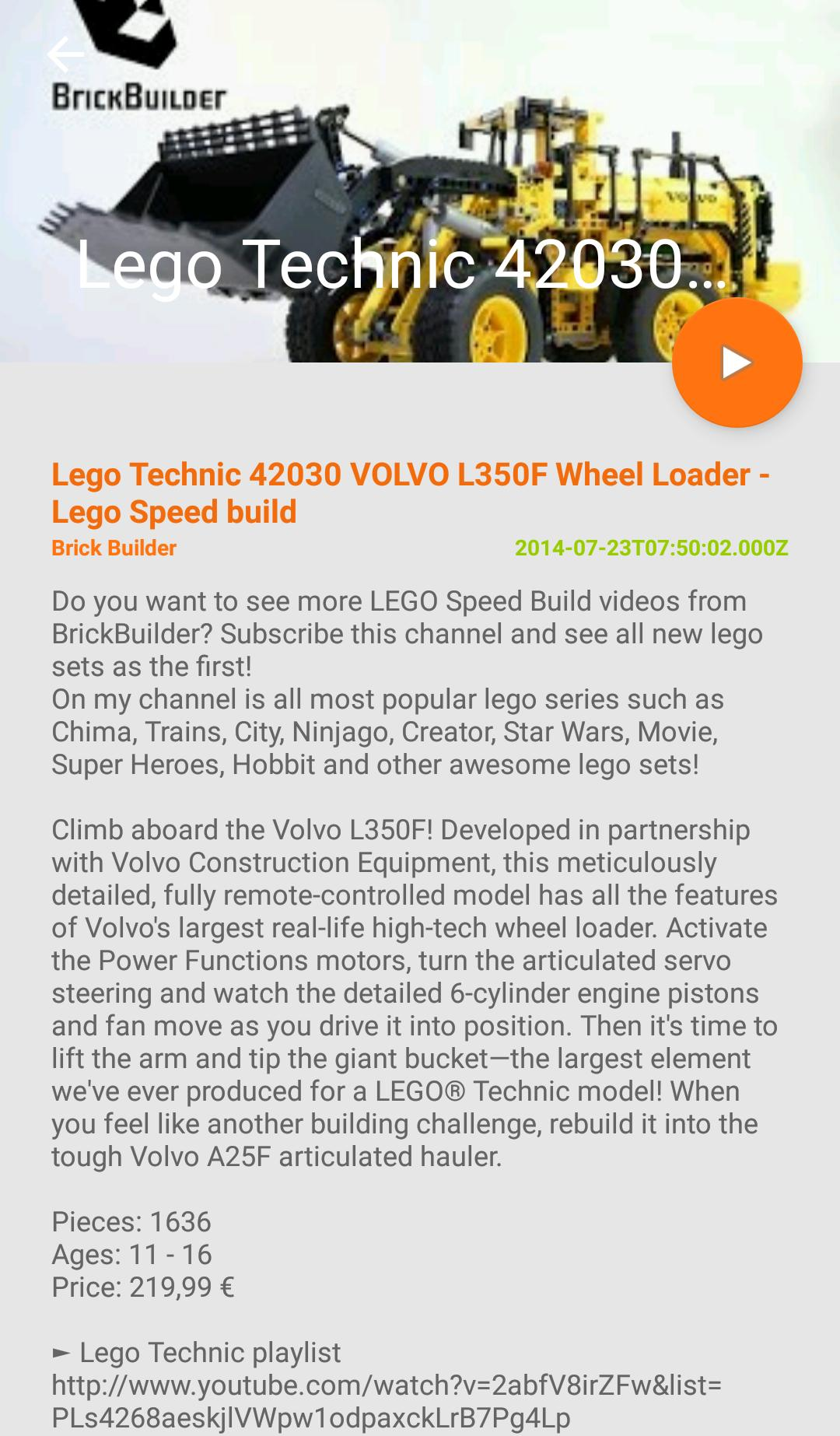 Best Lego Technic Build Video for Android - APK Download
