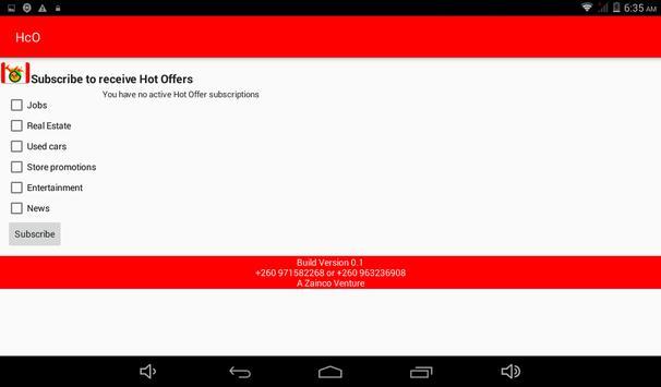 Hot Customer Offers(HcO Zambia) screenshot 2